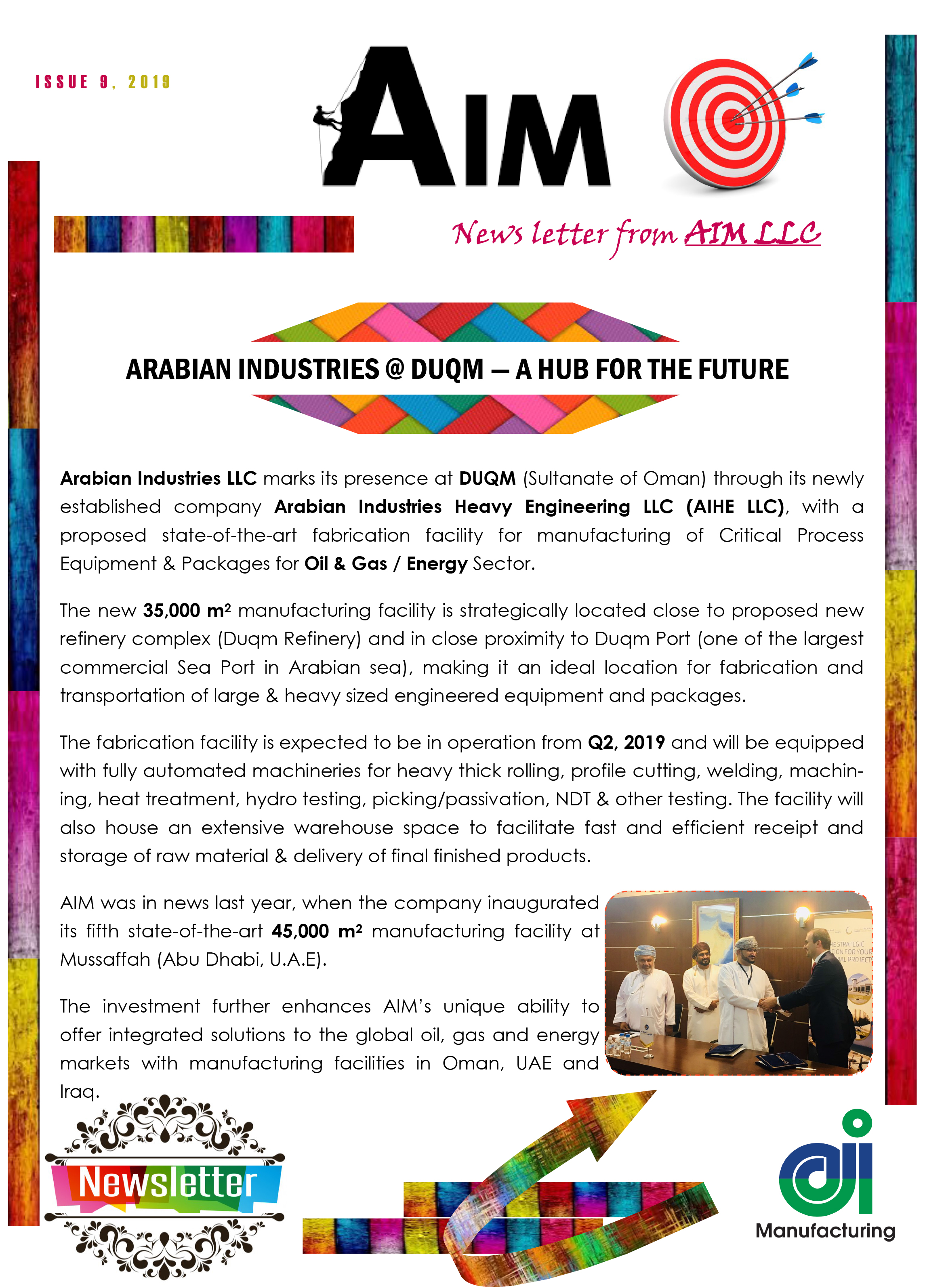AIM News Letter | Arabian Industries